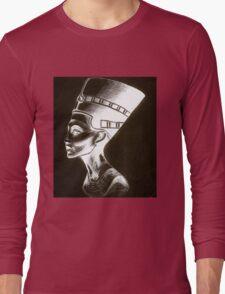 Nefertiti-Black/White  Long Sleeve T-Shirt