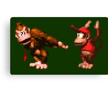Donkey Kong Country - 5 Low Canvas Print