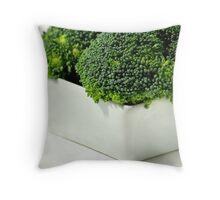 Fresh, green broccoli Throw Pillow