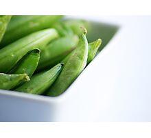 Fresh, tasty green beans Photographic Print