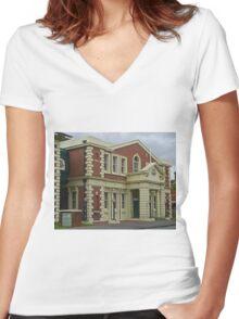 Surpeme Court Building, Launceston, Tasmania, Australia Women's Fitted V-Neck T-Shirt