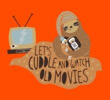Let's Cuddle and Watch Old Movies Kids Tee