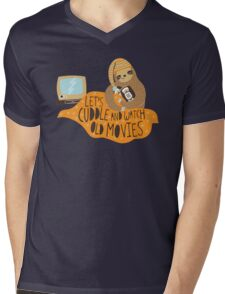 Let's Cuddle and Watch Old Movies Mens V-Neck T-Shirt