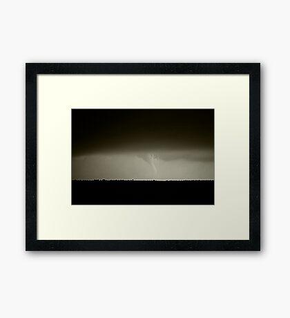 Kansas Tornado Framed Print