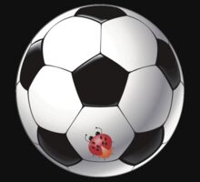 Ladybug on Telstar football ball One Piece - Long Sleeve