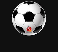Ladybug on Telstar football ball Unisex T-Shirt