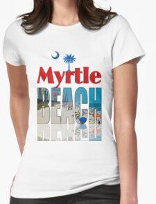 BEACH T-SHIRT Womens Fitted T-Shirt