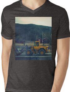 yellow tractor Mens V-Neck T-Shirt