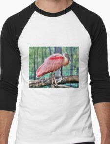 Roseate Spoonbill Men's Baseball ¾ T-Shirt