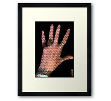 I am a reptile...but do not smear.. Framed Print