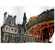 Carrousel at the Hotel de Ville Poster