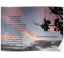 Clouds: Sympathy card Poster