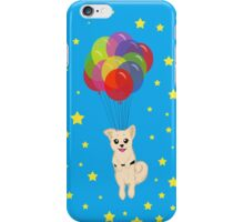 Puppy with Floating Balloons iPhone Case/Skin