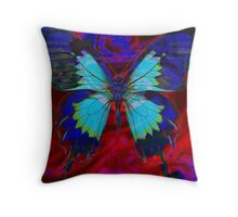 Psychedelia Illusions Take the Form of Butterflies Throw Pillow