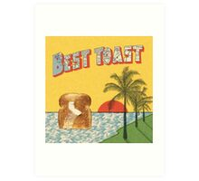 Best Coast, Best Toast Art Print