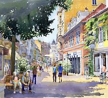 Germany Baden-Baden Lange Strasse by Yuriy Shevchuk