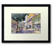 Germany Baden-Baden Lange Strasse Framed Print