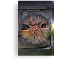 The Old Mill Water Wheel Canvas Print