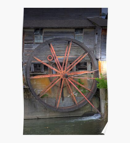 The Old Mill Water Wheel Poster
