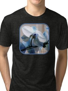 Crystal Blue Persuasion ~ Orchids Tri-blend T-Shirt