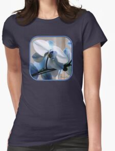 Crystal Blue Persuasion ~ Orchids Womens Fitted T-Shirt