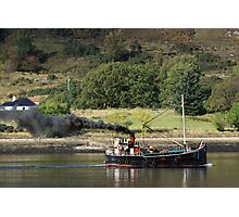 Old Clyde Puffer on Loch Linnhe. Photographic Print