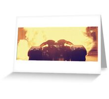 Batmobile in Batman vs. Superman Greeting Card