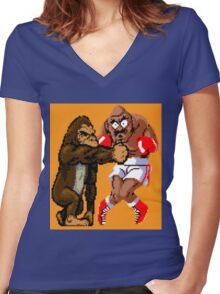 Rampaging Bull Women's Fitted V-Neck T-Shirt