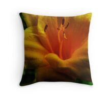 Inside of a Lily Throw Pillow