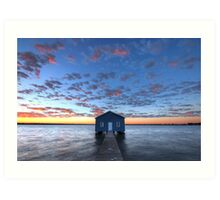 Crawley Boat House Art Print
