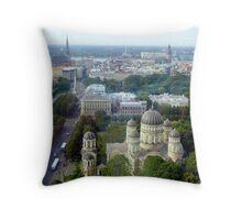 Riga Panorama Throw Pillow