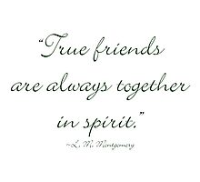 True friends are always together in spirit Photographic Print