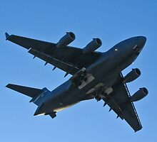 Belly shot of the C-17 Globemaster III by Henry Plumley
