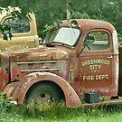 Old Fire Truck Resting In Field by mooselandtours