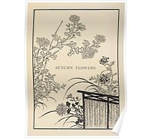 The flowers of Japan and the art of floral arrangement Josiah Conder 1892 0053 Autumn Flowers Poster