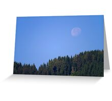 Moonset Greeting Card