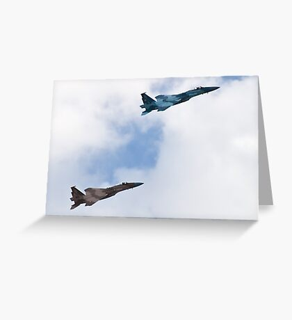 Pair of Eagles, Air Force style Greeting Card