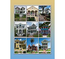 Victorian Homes of Galveston Island Photographic Print