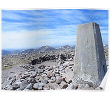 The Cairngorms - Trig Point on Ben Machdui Poster