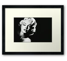 Peek-a-boo Marilyn Framed Print