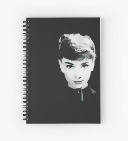 Audrey in Black Spiral Notebook