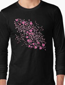 Sakura Princess on Black Long Sleeve T-Shirt