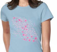 Cherry Blossom Princess on White Womens Fitted T-Shirt