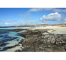 Sanna Bay Beach on the Arnamurchan Penninsula. Photographic Print