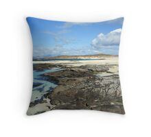 Sanna Bay Beach on the Arnamurchan Penninsula. Throw Pillow