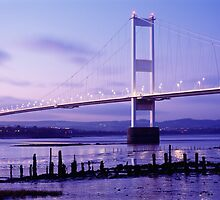 Severn Bridge Panorama, Gloucestershire, England by Craig Joiner