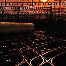 Sunset at Zurich Main Station I by Ted Lansing