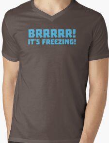 BRRRRRR! It's FREEZING (cold winter design) Mens V-Neck T-Shirt