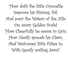 How Doth The Little Crocodile by Amantine