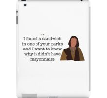 Mayonnaise Lady Parks and Recreation iPad Case/Skin